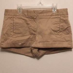 J.Crew Stretch Cuffed Khaki Cotton Shorts Size 6